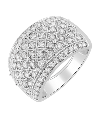 Diamond Ring - 14ct White Gold Diamond Ring - 770715
