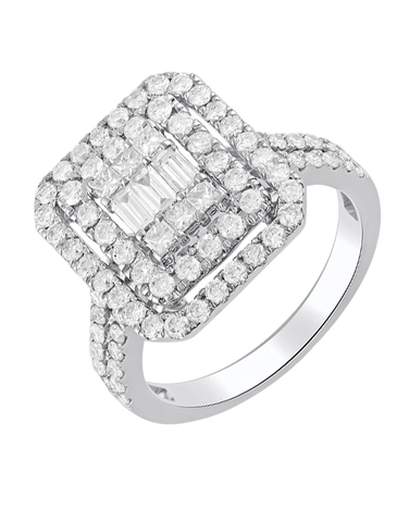 Esclusivo - 14ct White Gold Diamond Ring - 770718
