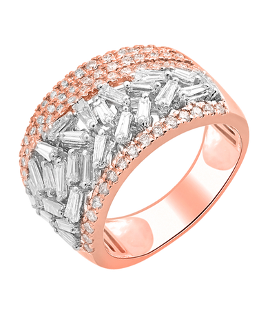 Esclusivo - 14ct Rose & White Gold Diamond Ring - 770719