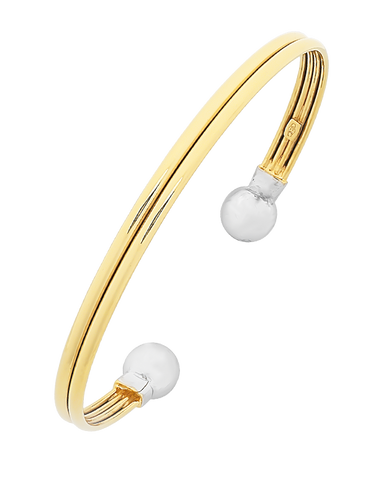 Gold Bangle - 9ct Two Tone Bangle - 770876