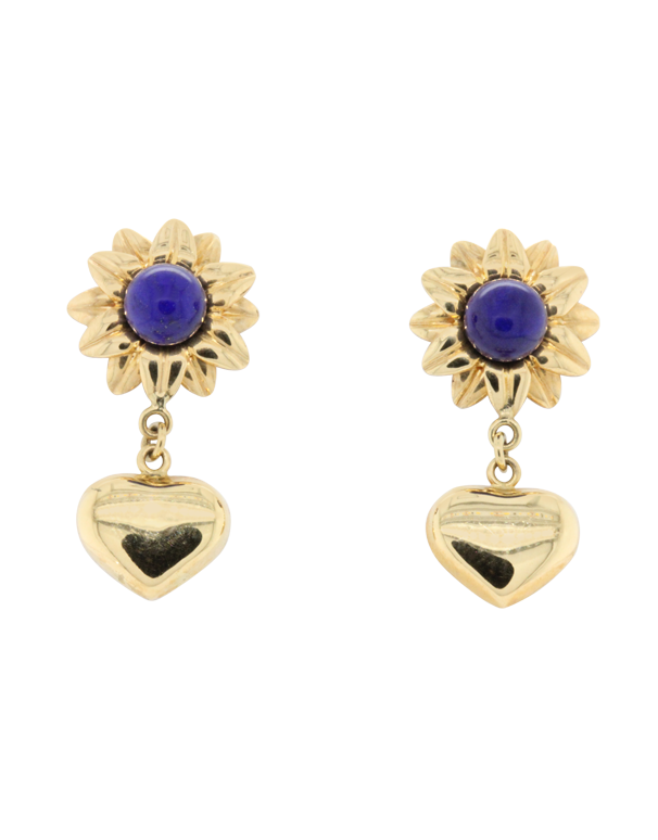 Heritage Collection - 18ct Yellow Gold Lapis Earrings- 770967 - Salera's