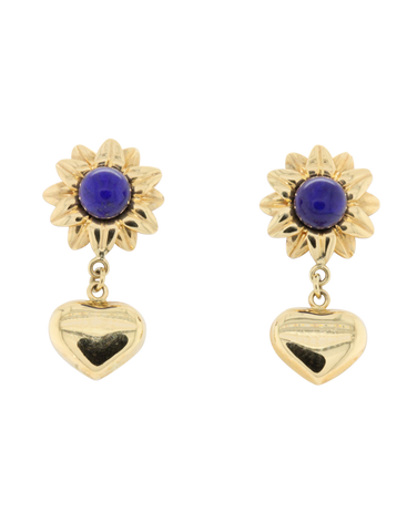 Heritage Collection - 18ct Yellow Gold Lapis Earrings- 770967