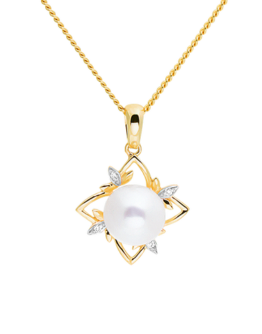 Gold Pendant - 14ct Yellow Gold Freshwater Pearl Pendant - 771455