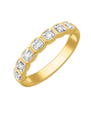 Diamond Ring - Yellow Gold Diamond Ring - 780170