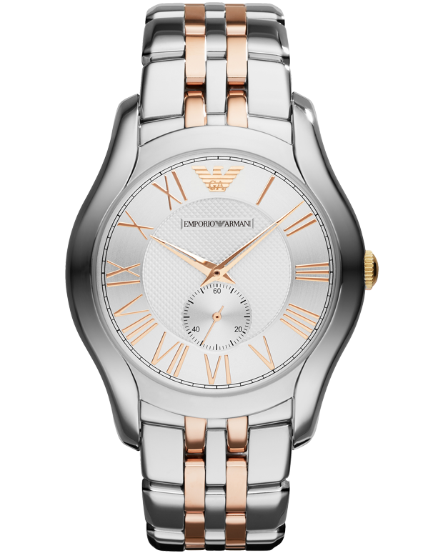 Emporio Armani - Valente Rose Gold Two Tone Watch - AR1824 - Salera's Melbourne, Victoria and Brisbane, Queensland Australia