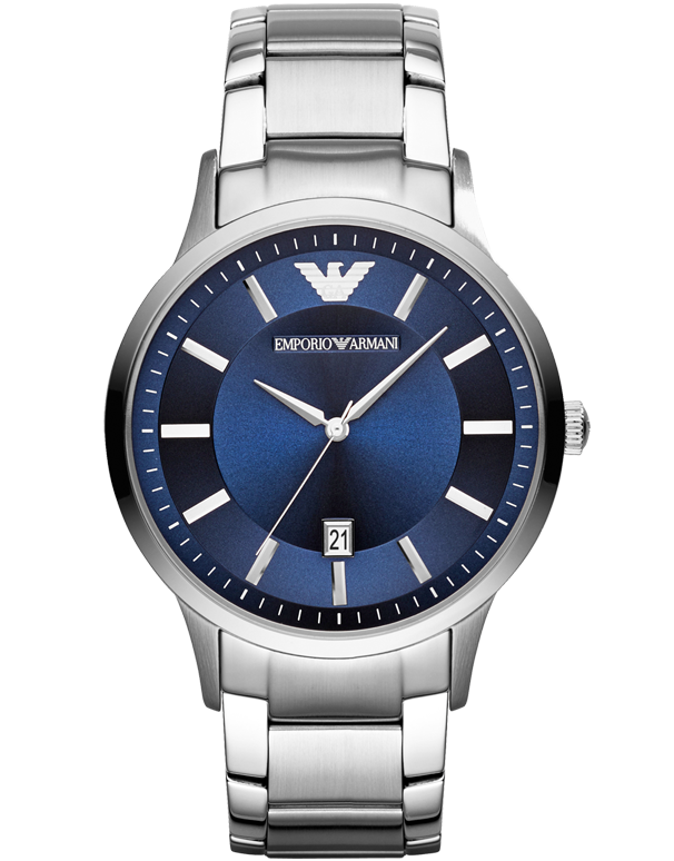 Emporio Armani - Renato Classic Blue Dial Watch - AR2477 - Salera's Melbourne, Victoria and Brisbane, Queensland Australia
