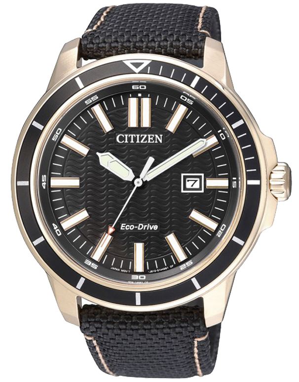 Citizen - Men's Gold Stainless Steel Eco-Drive Date Watch - AW1523-01E - Salera's Melbourne, Victoria and Brisbane, Queensland Australia