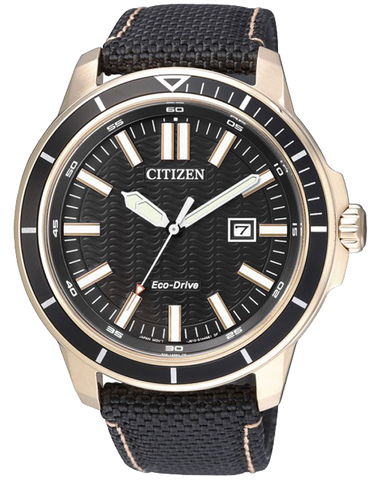 Citizen - Men's Gold Stainless Steel Eco-Drive Date Watch - AW1523-01E