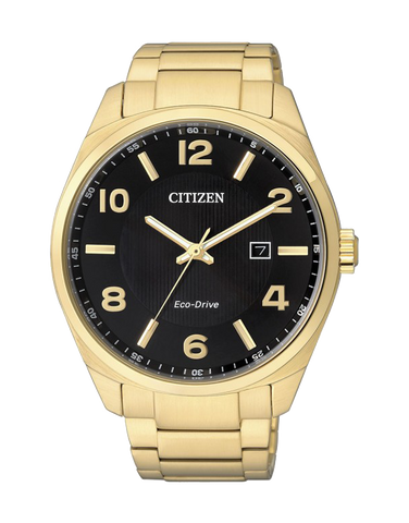 Citizen - Men's Gold Stainless Steel Eco-Drive Dress Watch - BM7322-57E - 759712