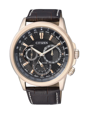 Citizen - Men's Gold Stainless Steel Eco-Drive Watch - BU2023-12E - 766345