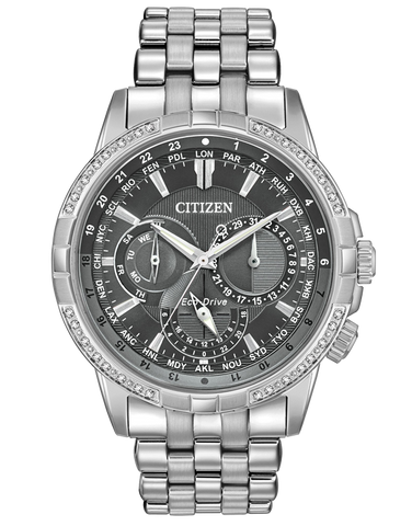 Citizen - Men's Stainless Steel Eco-Drive Diamond Watch - BU2080-51H - 767728