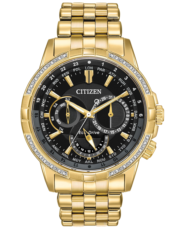 Citizen - Men's Stainless Steel Eco-Drive Diamond Watch - BU2082-56E - 767725 - Salera's