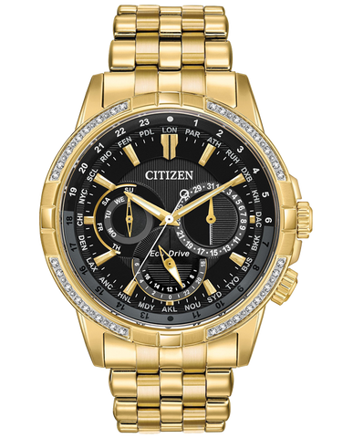 Citizen - Men's Stainless Steel Eco-Drive Diamond Watch - BU2082-56E - 767725