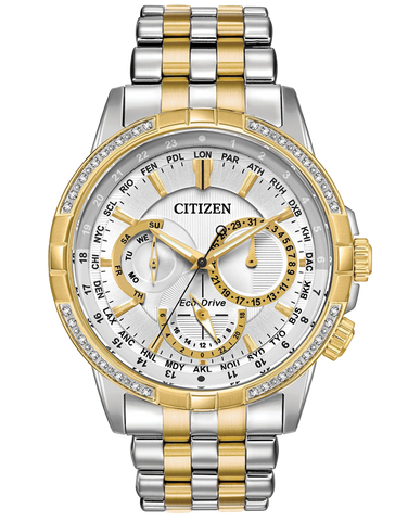 Citizen - Men's Stainless Steel Eco-Drive Diamond Watch - BU2084-51A - 767726