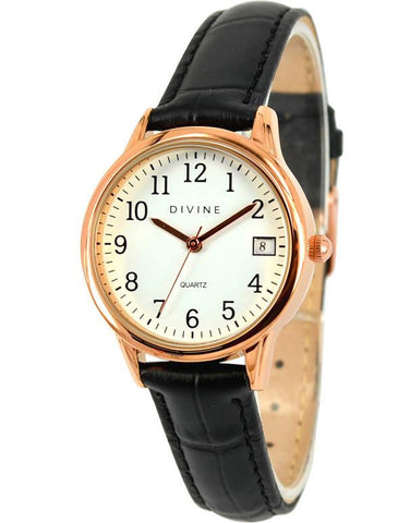 Divine - Ladies Leather Strap Watch - DW1085-3