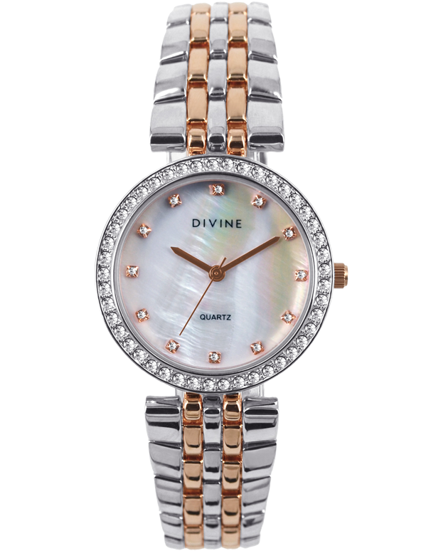 Divine - Ladies Two Tone Crystal Set Watch - DW1086-5 - Salera's Melbourne, Victoria and Brisbane, Queensland Australia