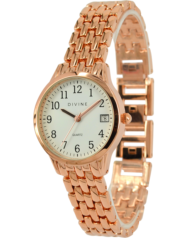 Divine - Ladies Rose Tone Watch - DW1089-3