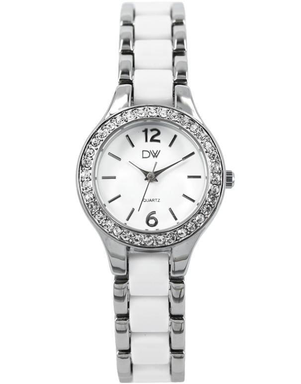 Divine - Ladies Two Tone Crystal Set Watch - DW2050-1 - Salera's Melbourne, Victoria and Brisbane, Queensland Australia - 1