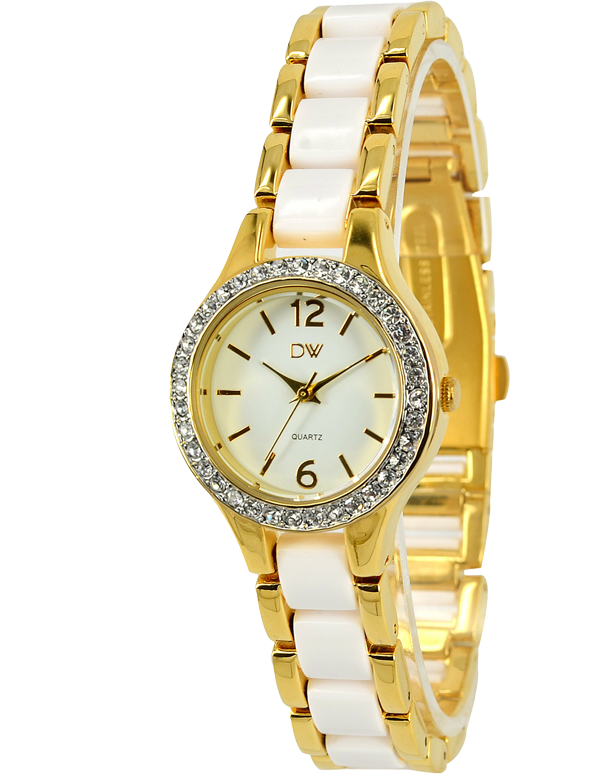 Divine - Ladies Two Tone Crystal Set Watch - DW2050-2 - Salera's Melbourne, Victoria and Brisbane, Queensland Australia