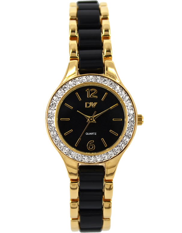Divine - Ladies Two Tone Crystal Set Watch - DW2050-3 - Salera's Melbourne, Victoria and Brisbane, Queensland Australia