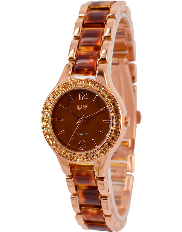 Divine - Ladies Two Tone Crystal Set Watch - DW2080-8