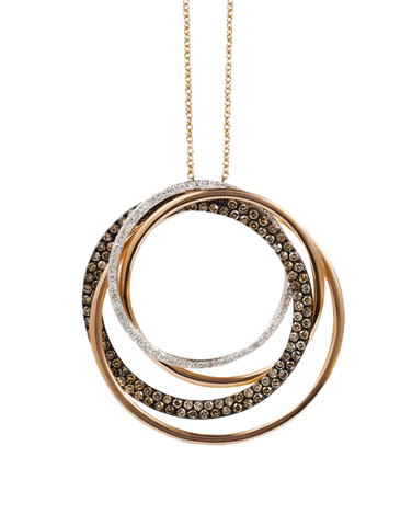 Effy Espresso - 14ct Rose Gold Diamond Pendant
