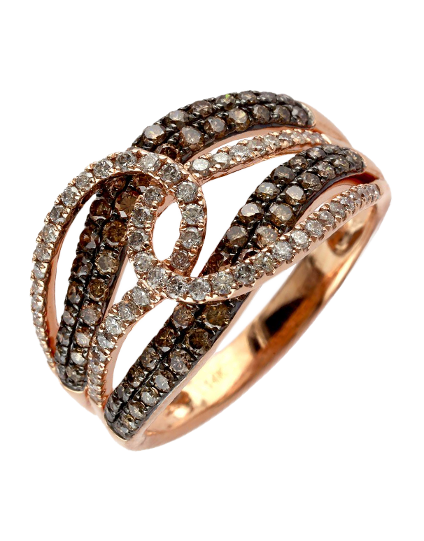 Effy Espresso - 14ct Rose Gold Diamond Ring - Salera's Melbourne, Victoria and Brisbane, Queensland Australia