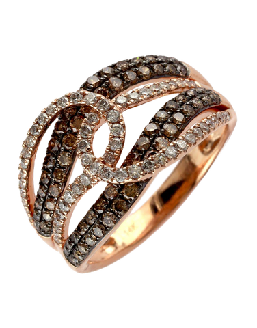 Effy Espresso - 14ct Rose Gold Diamond Ring