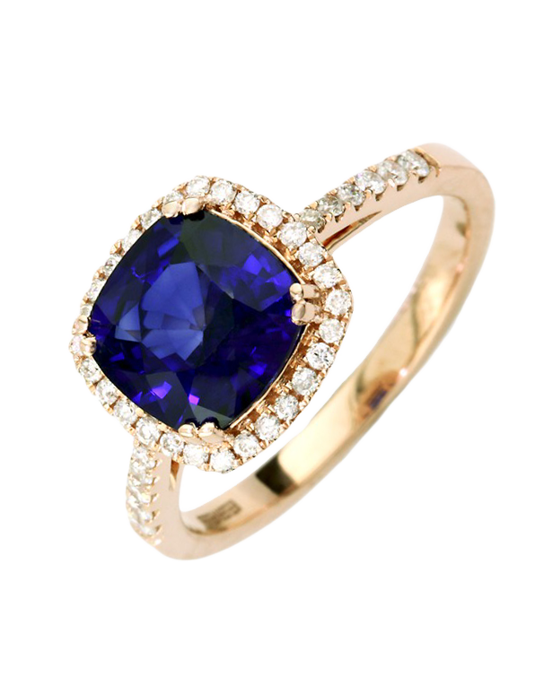 Effy Gemma - 14ct Rose Gold Sapphire and Diamond Ring - Salera's Melbourne, Victoria and Brisbane, Queensland Australia