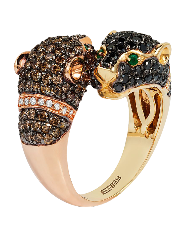 Effy Panther - 14ct Two Tone Gold Diamond Ring - Salera's Melbourne, Victoria and Brisbane, Queensland Australia