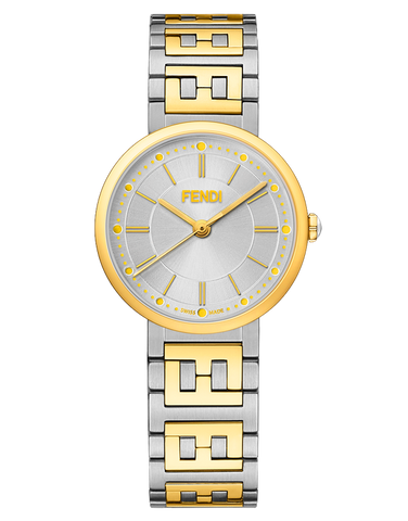 Forever Fendi, Watch with FF logo bracelet - F102201301