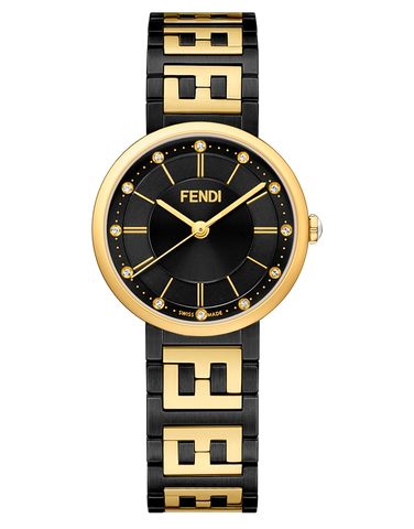 Forever Fendi, Watch with FF logo bracelet - F102212501