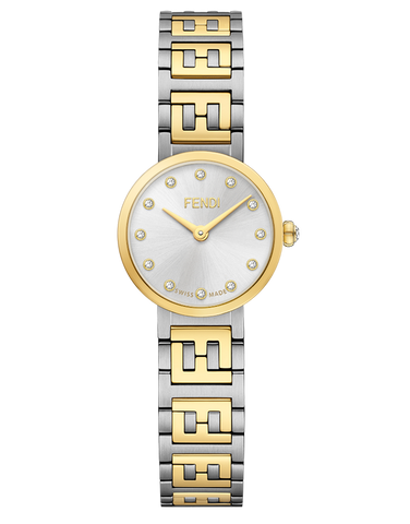 Forever Fendi, Watch with FF logo bracelet - F103202101
