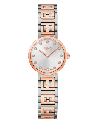 Forever Fendi, Watch with FF logo bracelet - F103302201