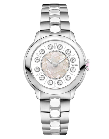 Fendi IShine - Watch with rotating gemstones on the dial - F121034500T01