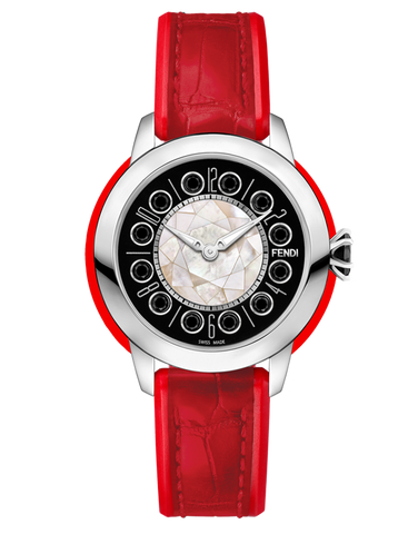 Fendi IShine - Watch with rotating gemstones on the dial - F136021573T01