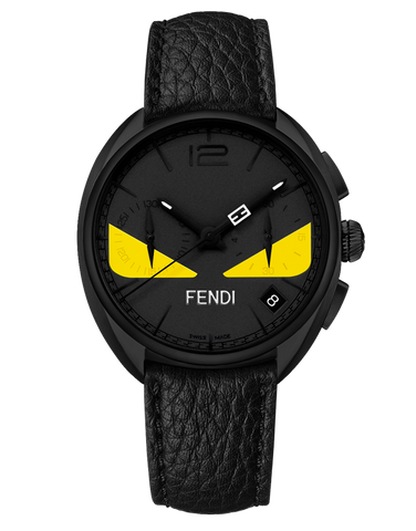 Momento Fendi Bugs, Chronograph watch with Fendi signature formed by the minute and chronograph seconds hands when they meet - F214611611