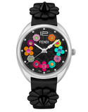 Momento Fendi Flowerland, Watch with Fendi signature formed by the minute and seconds hands when they meet - F234031011