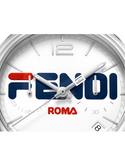 Momento Fendi Mania, Chronograph watch with Fendi signature formed by the minute and chronograph seconds hands when they meet - F236014037