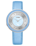 Fendi My Way, Round curved case watch with fur colar - F392033531