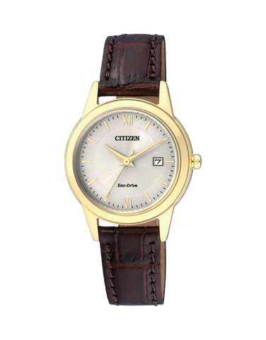 Citizen - Ladies Gold Stainless Steel Eco-Drive Watch - FE1082-13A