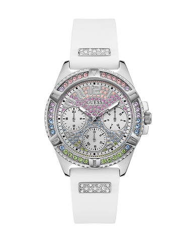 Guess - Ladies Frontier White and Silver Watch - GW0045L1 - 781405