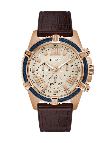 Guess - Men's Apex Rose Gold and Brown Watch - GW0053G4 - 781408