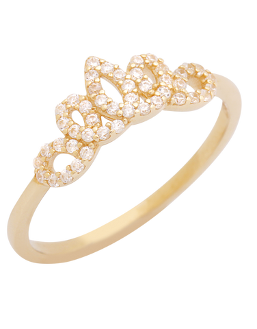 CZ Ring - 10ct Yellow Gold Cubic Zirconia Tiara Ring - 771360