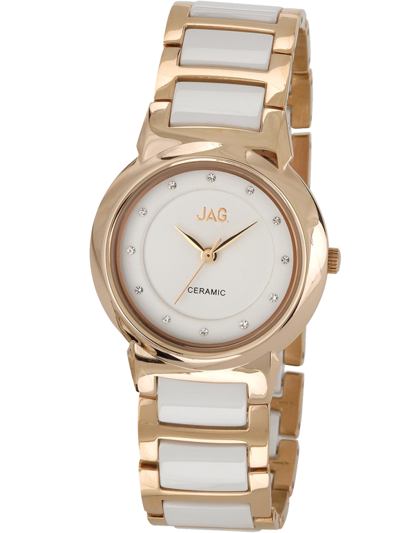 JAG - Ceramic & Rose Tone Watch - J1497A - Salera's Melbourne, Victoria and Brisbane, Queensland Australia