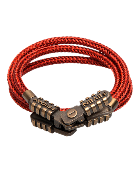 SEVENFRIDAY Bracelet - Jumper Revolution Brass & Red Metal Bracelet - JMP2/01 -768919