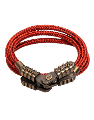 SEVENFRIDAY Bracelet - Jumper Revolution Brass & Red Metal Bracelet - JMP2/01 - 768919