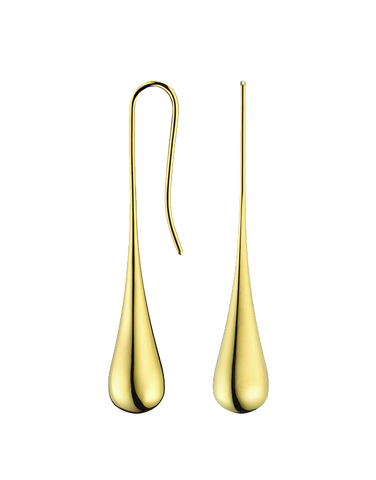 Calvin Klein Ellipse - Polished Yellow Gold PVD Tear Drop Earrings - KJ3QJE100100