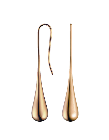 Calvin Klein Ellipse - Polished Rose Gold PVD Tear Drop Earrings - KJ3QPE100100