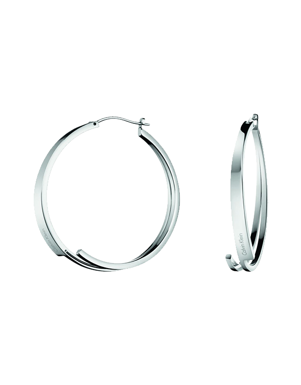 Calvin Klein Beyond -  Polished 316L Stainless Steel Earrings. Stainless Steel Postings and Hinge Backs - KJ3UME000100 - 761406 - Salera's